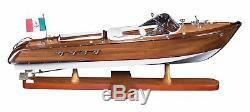 Riva Aquarama Speed Boat 25.2 Wood Model Assembled By Authentic Models