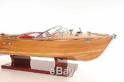 Riva Aquarama Speed Boat 27 Wood Model Assembled