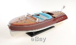 Riva Aquarama Speed Boat Painted 26.5 Wood Model Assembled