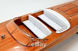 Riva Ariston Handmade Wooden Classic Boat Model 48 RC Ready