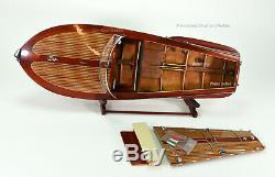 Riva Corsaro Handmade Wooden Classic Boat Model 34 RC Ready