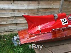 Riva Ferrari ARNO IX 26 Wood Model Boat L70 cm Handmade Italian Speed Boat