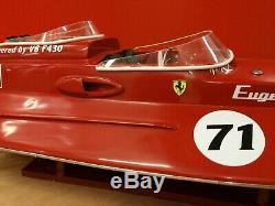 Riva Ferrari F430 Molinari 26 Wood Model Boat 67cm Handmade Italian Speed Boat