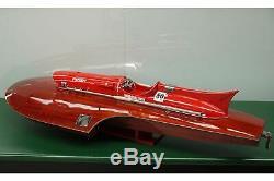 Riva Ferrari F430 Molinari 28 Wood Model Boat 76cm Handmade Italian Speed Boat