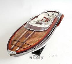 Riva Rivarama E. E. Speed Boat 37' Wood Model Assembled