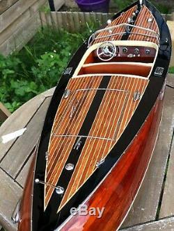 Riva STAN CRAFT TORPEDO 26 Wood Model Boat L70 cm Handmade Italian Speed Boat