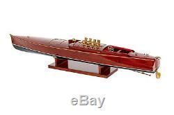 Riva US Model DIXIE 35 Wood Model Boat L 90 cm Handmade Boat Handcraft