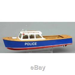 River Police Launch model Wooden boat kit Lesro models Les Rowell
