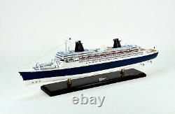 SS Norway Ocean Liner Handcrafted Wooden Ship Model 40