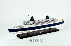 SS Norway Ocean Liner Handmade Wooden Ship Model 40
