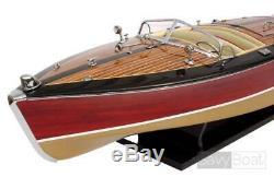 STAN CRAFT TORPEDO 28 Wood Model Boat L 67 cm Handmade US Speed Boat Handcraft