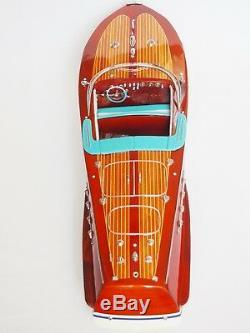 SUPER RIVA TRITONE BOAT 25 (64cm) Wood Model Miniature