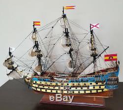 San Felipe 32 model wood ship Spanish navy wooden tall ship sailing boat