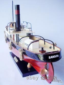Sanson Wooden Tug Boat Model Display Ready