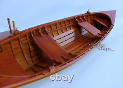 Scale 24 St. Laurence Skiff Clinker Hull Display Model Boat