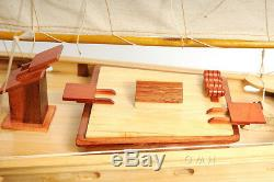 Schooner Bluenose II Wood Ship Model Sailboat 38 Fully Assembled Boat