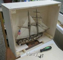Schooner HALCON 1840 scale 1/100 model assembled, handmade by the master