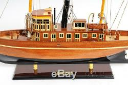 Seguin Tug Boat 1884 Wood 26 Model Ship Named After Seguin Island Assembled