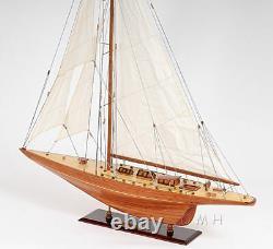 Shamrock V 1930 America's Cup J Boat Wood Model 39 Yacht UK Sailboat New