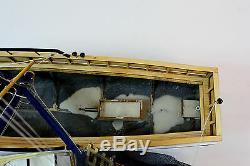 Shrimp Boat Handmade Wooden Boat Model 23 RC Convertible