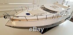 Sunseeker Predator 62 Yacht Handmade Wooden Boat Model 35