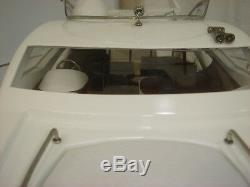 Sunseeker high quality handcraft wooden model ship speed boat 35 white & blue