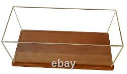 Table Top Model Display Case Wood & Plexiglass Cabinet 28 Runabout Speed Boats