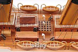 Titanic Ocean Liner Wooden Model 32 White Star Line Cruise Ship Boat New