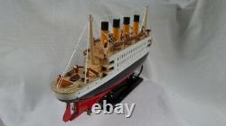 Titanic With Lights 15 Beautiful Wooden Model Cruise Ship L40 Free Shipping