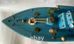 Tsukuda Torpedo Boat Battery Operated Wooden Model 46cm Über Rare Vintage Item