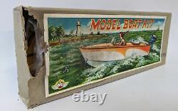 ULTRA RARE Vintage 1950's (Japan) ITO Unassembled Wooden Model Boat Kit, NEW