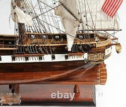 USS Constellation Frigate Tall Ship 38 Wood Model Sailboat Assembled