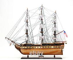 USS Constitution Old Ironsides Wooden Tall Ship Model 38 Sailboat Boat Model