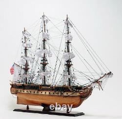 USS Constitution Old Ironsides Wooden Tall Ship Model 38 Sailboat Built Boat