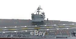USS Ronald ragan CVN Aircraft Carier Wood Model Boat Assembled