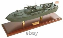 US Navy Torpedo Boat PT-109 John F Kennedy 24 Wood Model Ship Assembled