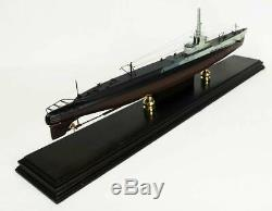 US Navy USS Barb Gato Class Desk Display Submarine Sub 1/150 Wood ES Boat Model