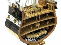 Uss Constitution Nautical Ship Scale 1x75 Model Boat Old Wooden Assembled Kit