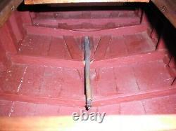 VINTAGE 48 BOAT MODEL MAHOGANY HAND BUILT 1930's 1940's