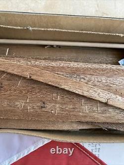 VINTAGE DUMAS ALCORT SUNFISH MAHOGANY & BALSA WOOD SAILBOAT MODEL KIT 20 Long