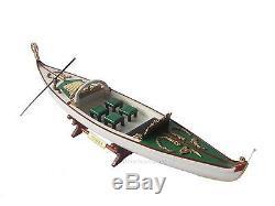 Venetian Gondola Italian Rowing Boat Assembled 23 Built Handmade Wooden Model