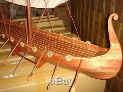 Viking Dragon boat high quality hand made wooden model ship 40