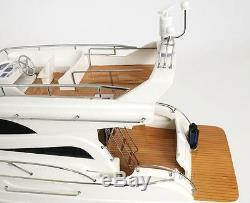 Viking Sport Cruiser Motor Yacht Wooden Model 36 Fully Assembled Power Boat New