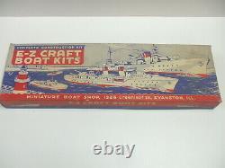 Vintage Antique E-Z Craft Boat Kits Freighter Wood Model Boat Kit #118