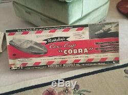 Vintage Berkeley Chris Craft Cobra Wood and Balsa Boat model Kit 1950s 31 inch