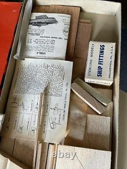 Vintage CENTURY SEA MAID 20' MODEL BOAT KIT BY STERLING As Is
