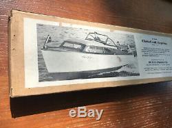 Vintage CHRIS CRAFT MODEL BOAT Wood kit 21 Express Vintage Kit! Dumas