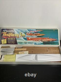 Vintage Dumas Thriftway Too Multi Boat Gold Cup Hydroplane Model Kit U-62