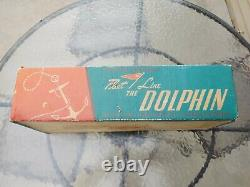 Vintage Fleetline Dolphin Wood Plastic Model Battery Toy Speed Boat #500 WithBox