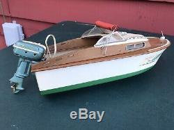 Vintage Fleetline Marlin Wood Boat Model K&O Buccaneer Motor 1950s Original Kit